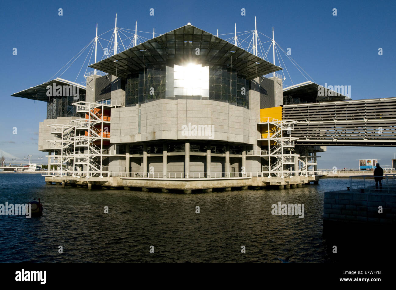 Oceanario (Acquarium), Lisbon, Portugal designed by Peter Chermayeff - Stock Image