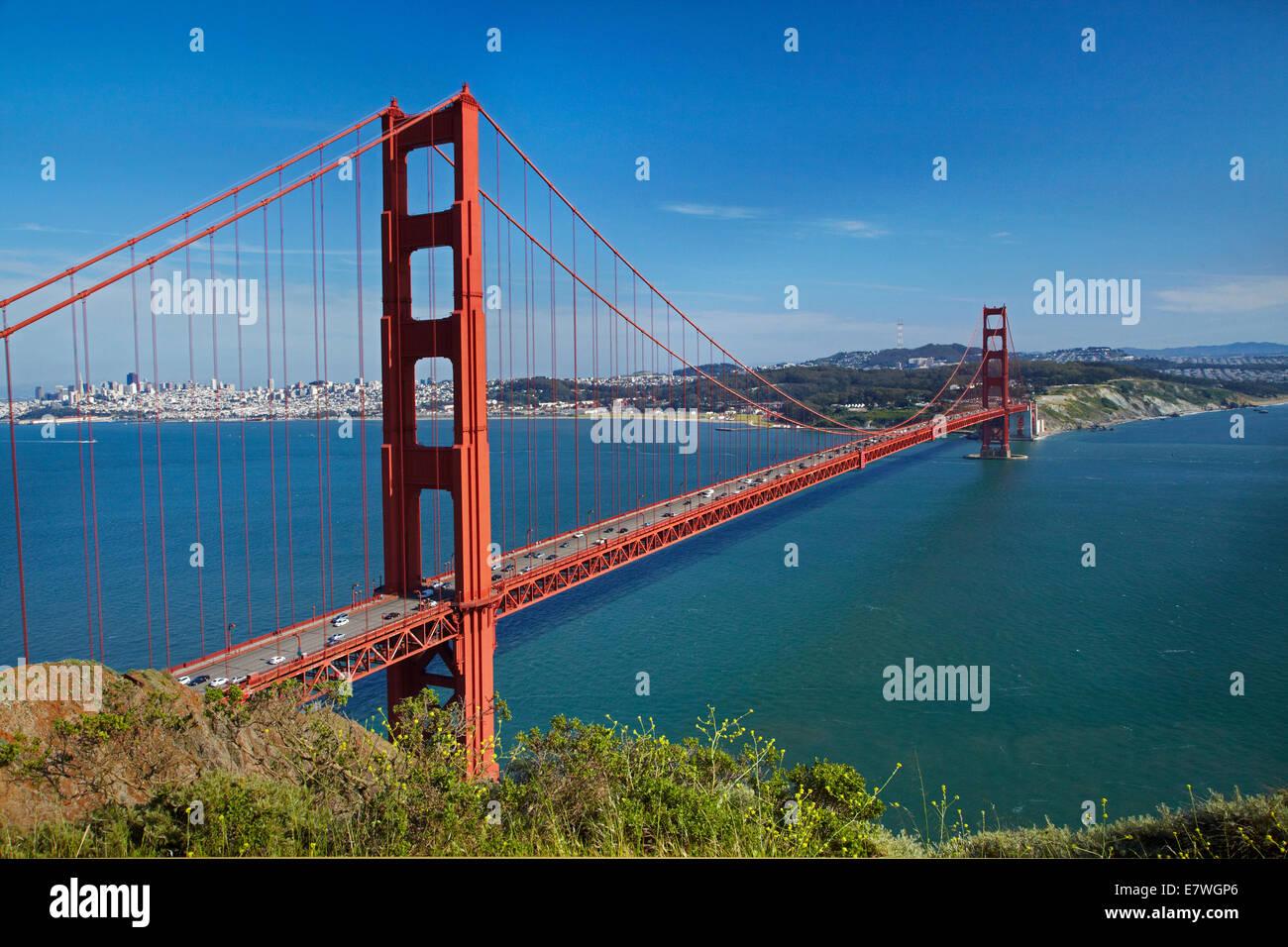 Golden Gate Bridge, San Francisco Bay, San Francisco, California, USA - Stock Image