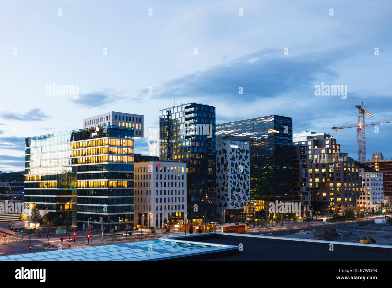 New waterfront architecture. Oslo, Norway - Stock Image