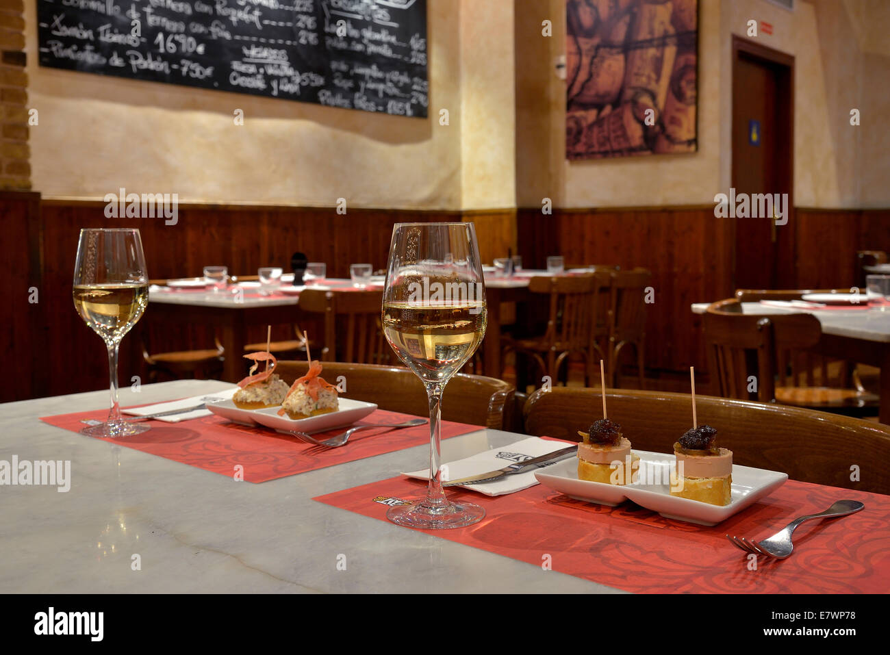 Tapas at the 'Tast' tapas bar, Palma, Mallorca, Balearic Islands, Spain - Stock Image