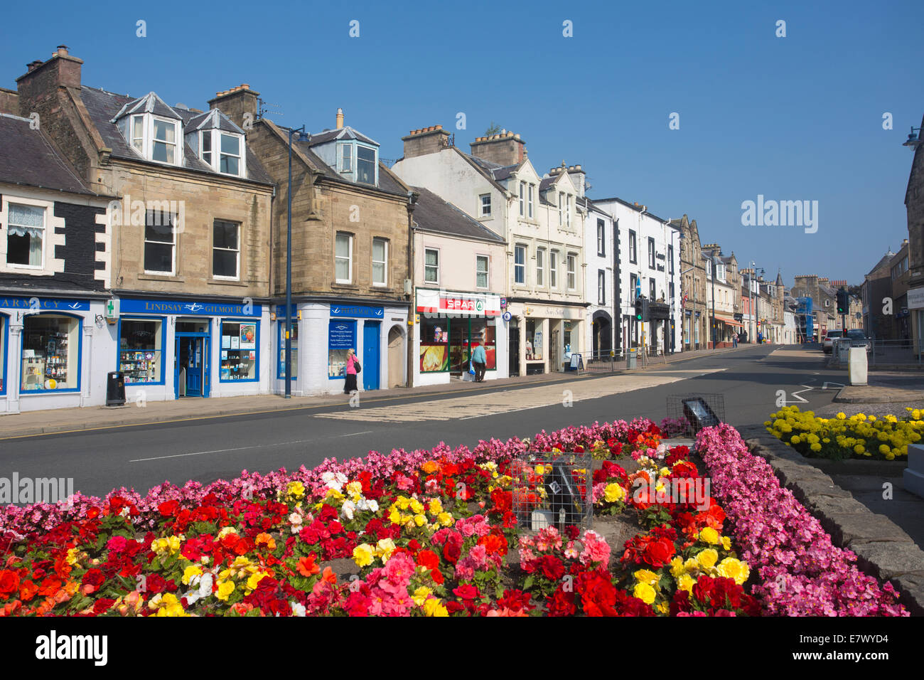 Selkirk, High Street, The Royal and Ancient Burgh of Selkirk, Scottish Borders, Scotland, UK - Stock Image
