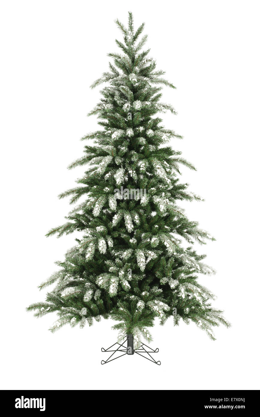 Christmas tree without ornaments on white - Stock Image