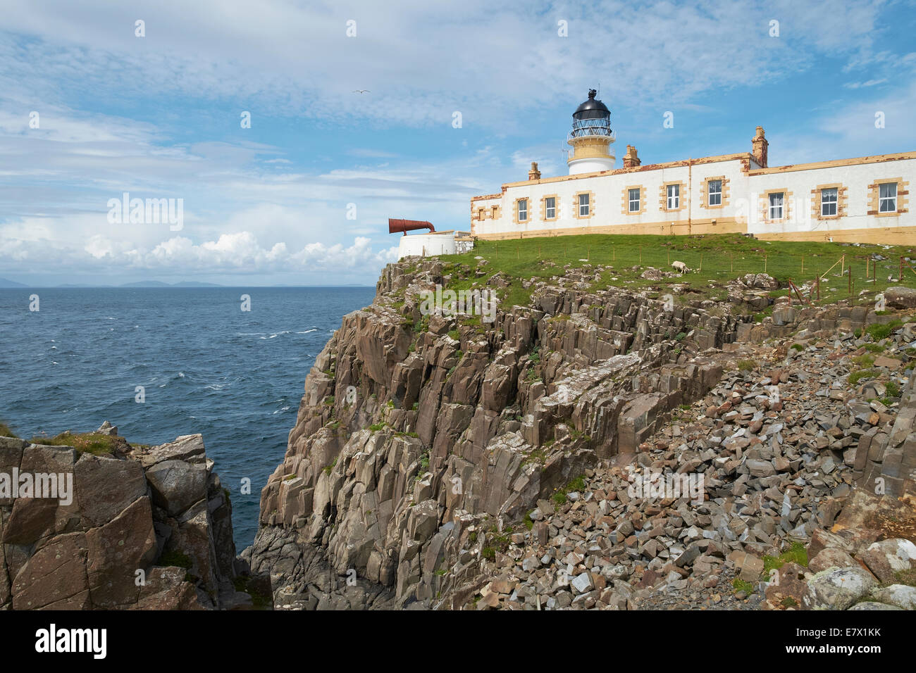 Neist Point Light house on the Isle of Skye, Scottish Highlands, Scotland. - Stock Image