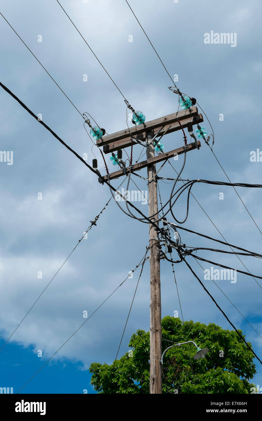 electric power lines - Stock Image