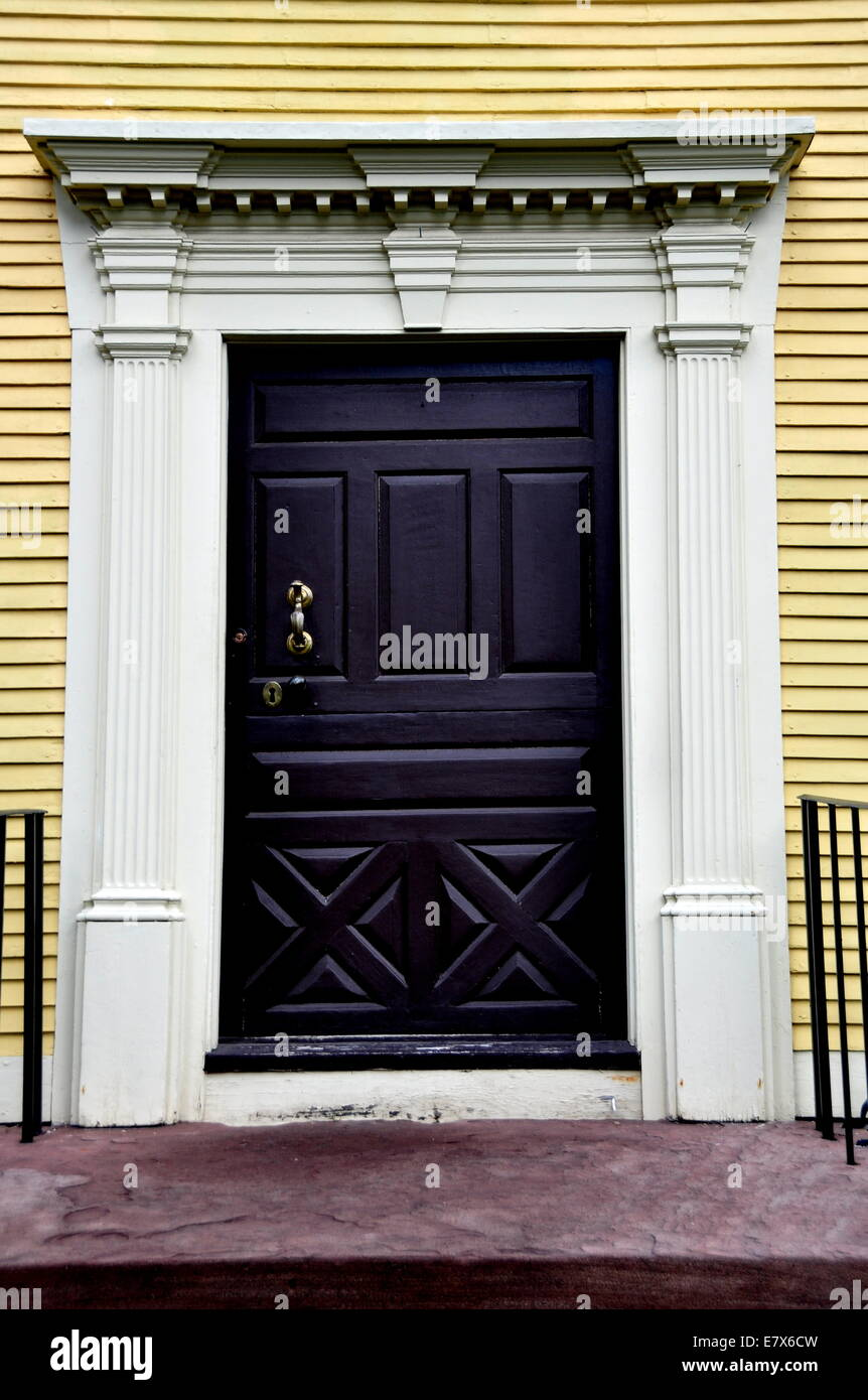 Wethersfield, Connecticut:  Doorway of the 1766 Silas Deane House - Stock Image