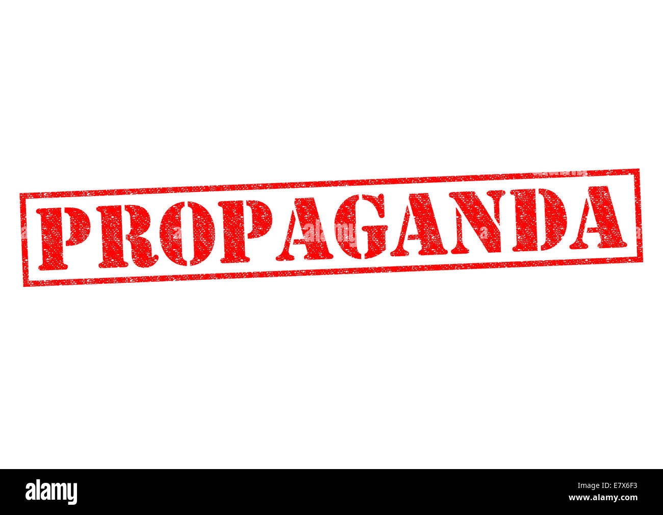 PROPAGANDA red Rubber Stamp over a white background. - Stock Image