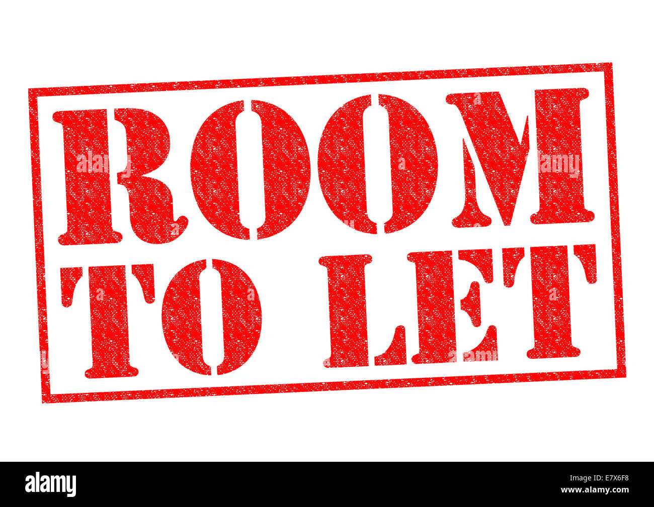 ROOM TO LET red Rubber Stamp over a white background. - Stock Image