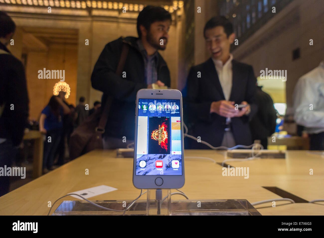 A new iPhone in the Apple store in Grand Central Terminal in New York Stock Photo