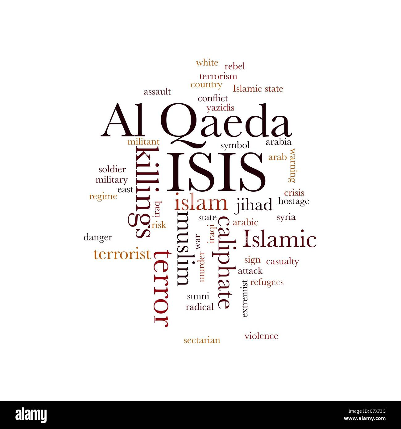 ISIS and Al Qaeda - Stock Image