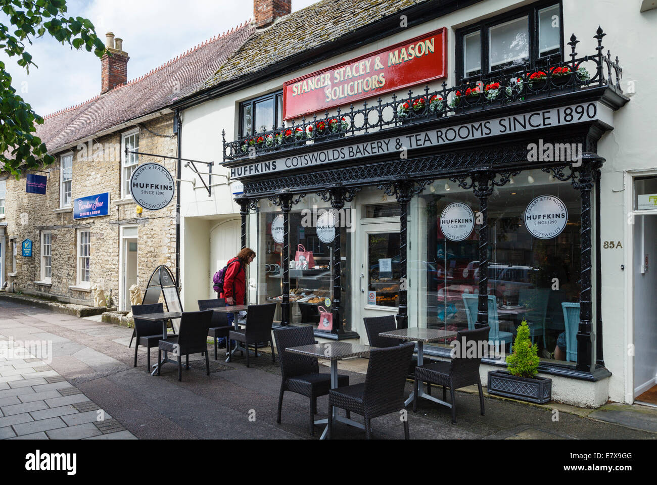 Huffkins Cotswolds Bakery and Tearooms,  Witney, Oxfordshire - Stock Image