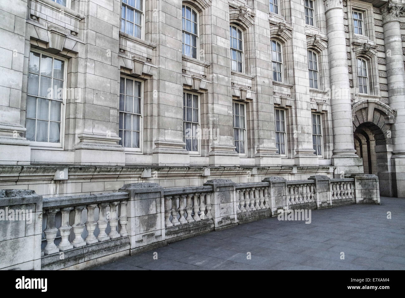 London Stone building classic architecture  windows - Stock Image