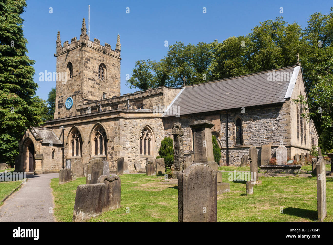 England Derbyshire, Eyam church - Stock Image