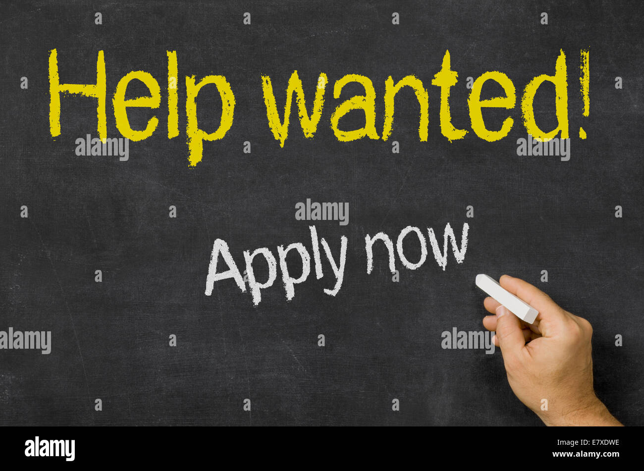 Help wanted - Stock Image