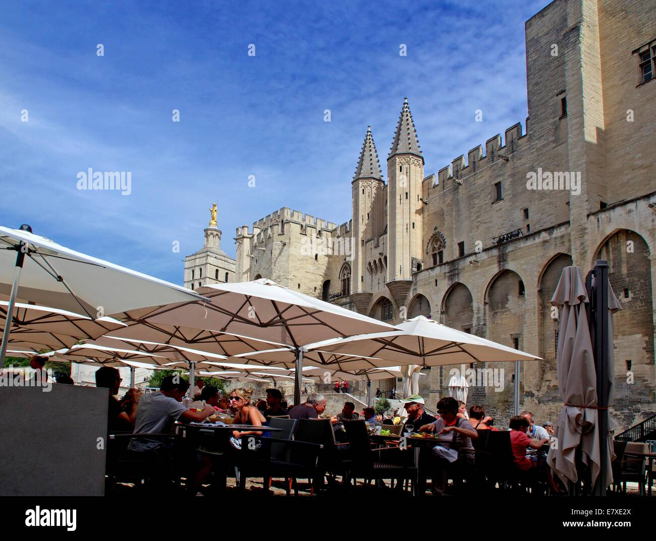 Palais des Papes or Palace of the Popes. UNESCO World Heritage , Avignon, Vaucluse, Languedoc-Roussillon, France, - Stock Image