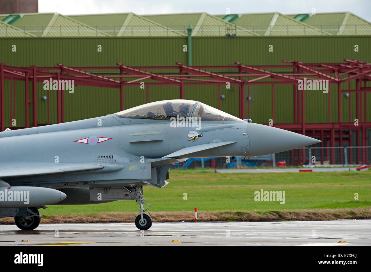 Eurofighter Typhoon FRG4 ZK335 ready for take off at RAF Lossiemouth, Morayshire.  SCO 9124 - Stock Image