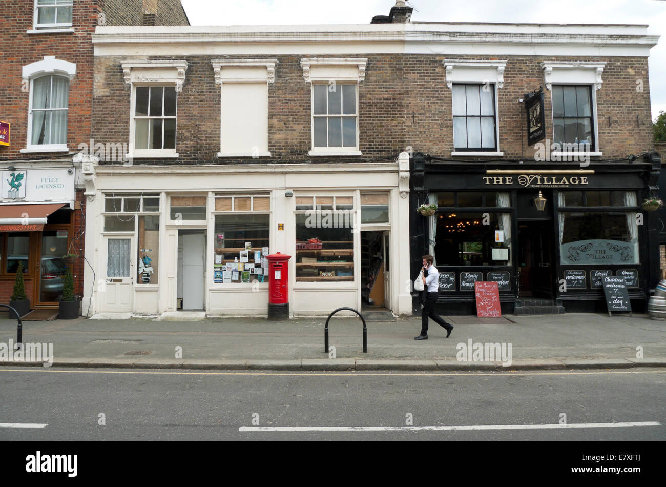 The Village pub and shops on Orford Road in Walthamstow Village, London E17  KATHY DEWITT - Stock Image