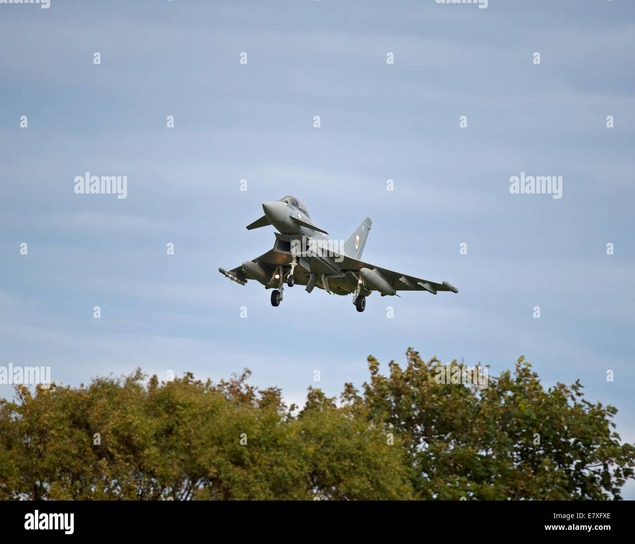 Eurofighter Typhoon FRG4  on approach to RAF Lossiemouth, Morayshire.  SCO 9163 - Stock Image