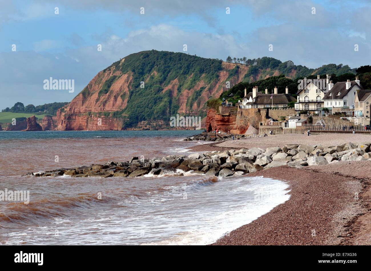 Seafront at Sidmouth Devon UK - Stock Image