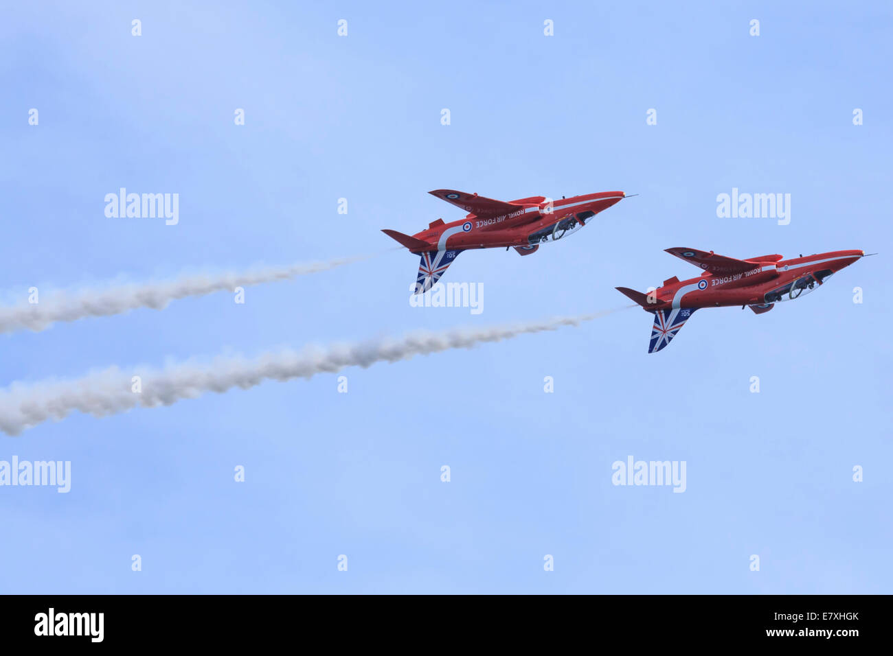 The Red Arrows at the 2014 Bournemouth Air Festival (UK) - Stock Image