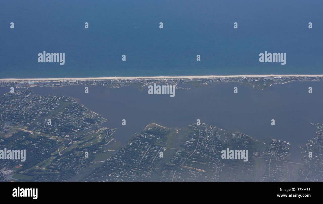 Long beach New York, Arial - Stock Image
