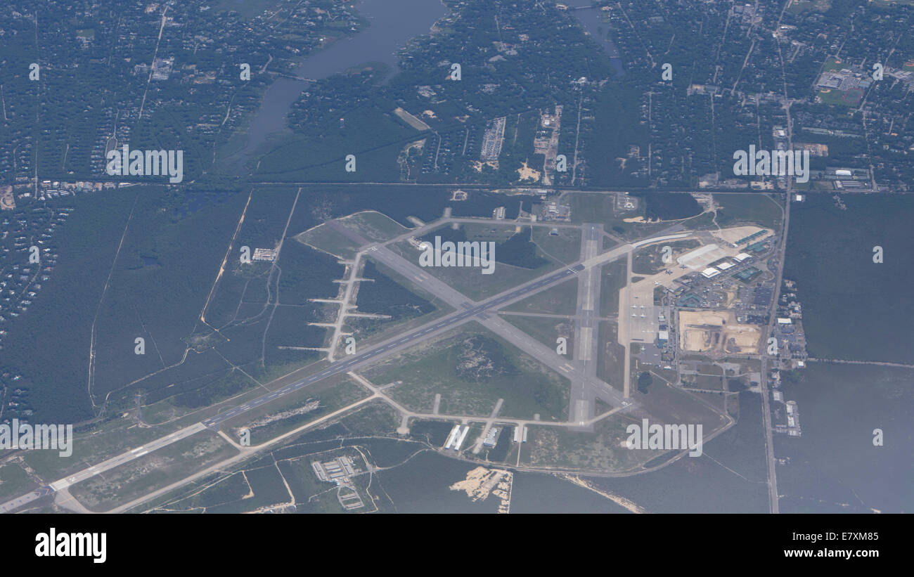 Airport arial view - Stock Image