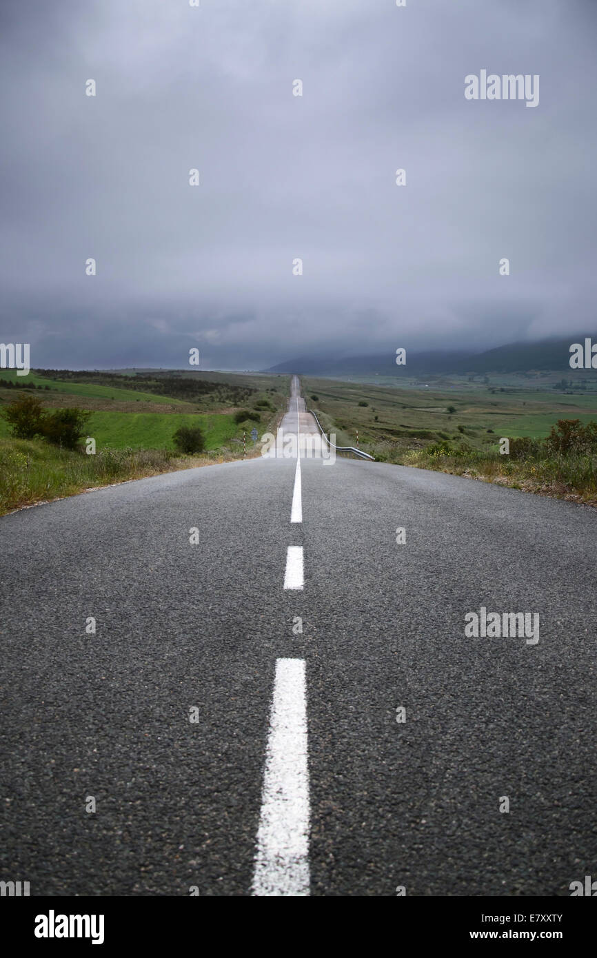 Country Road in the north of Spain. - Stock Image