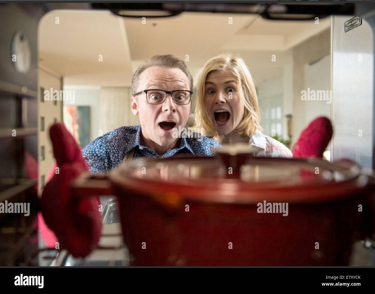 HECTOR AND THE SEARCH FOR HAPPINESS 2014 Egoli Tossell film with Rosamund Pike and Simon Pegg - Stock Image