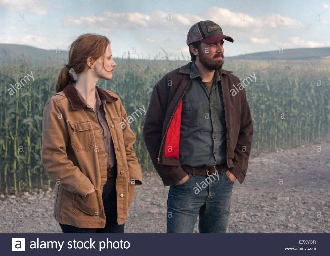 INTERSTELLAR 2014 Paramount Pictures film with Jessica Chastain and Casey Affleck - Stock Image