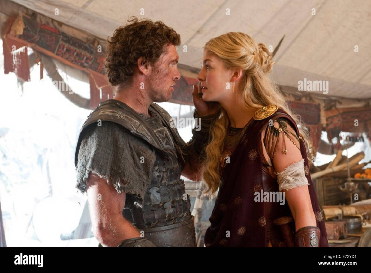 WRATH OF THE TITANS 2012 Warner Bros film with Rosamund Pike and Sam Worthington - Stock Image