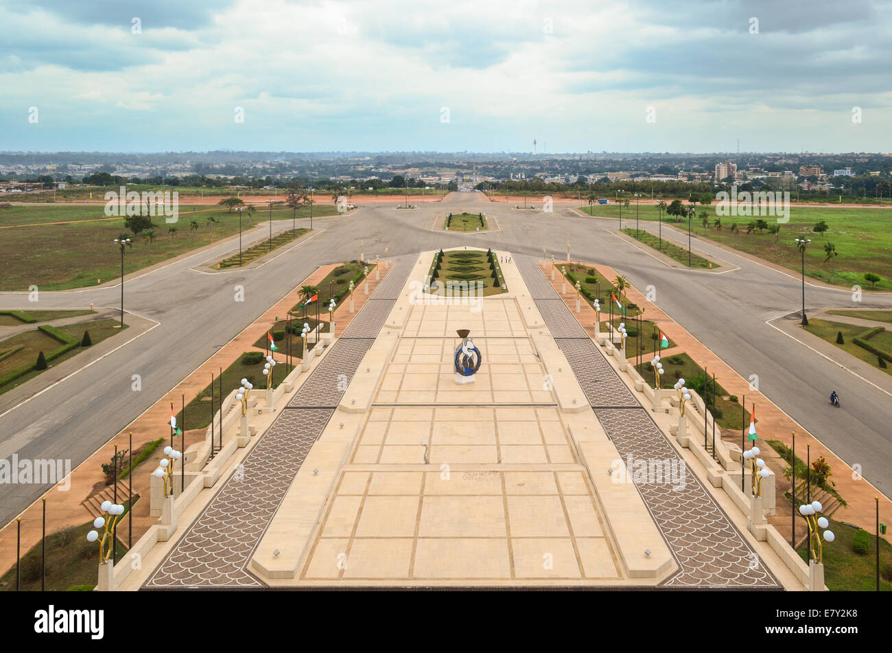 View of Yamoussoukro, Côte d'Ivoire (Ivory Coast), from the Fondation Félix Houphouet-Boigny - Stock Image