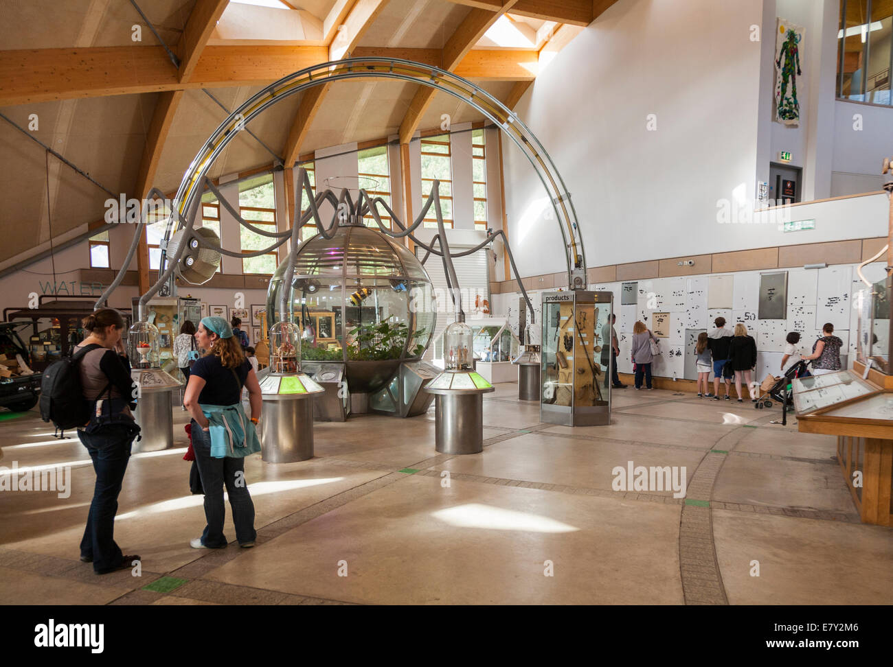 Interior of The Core at the Eden Project. Cornwall UK. - Stock Image