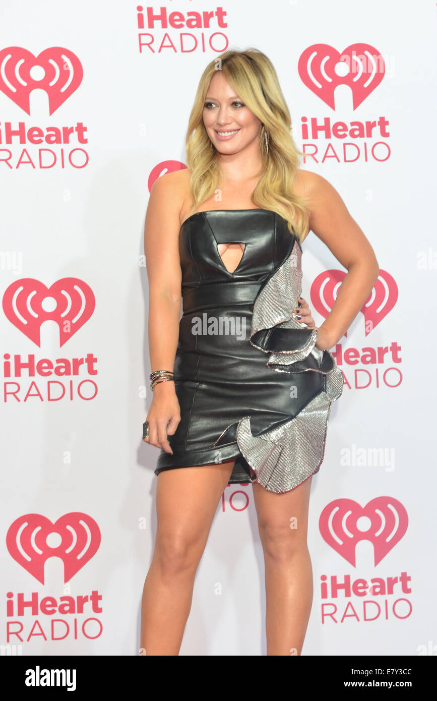 Actress Hilary Duff attends the 2014 iHeartRadio Music Festival in Las Vegas - Stock Image