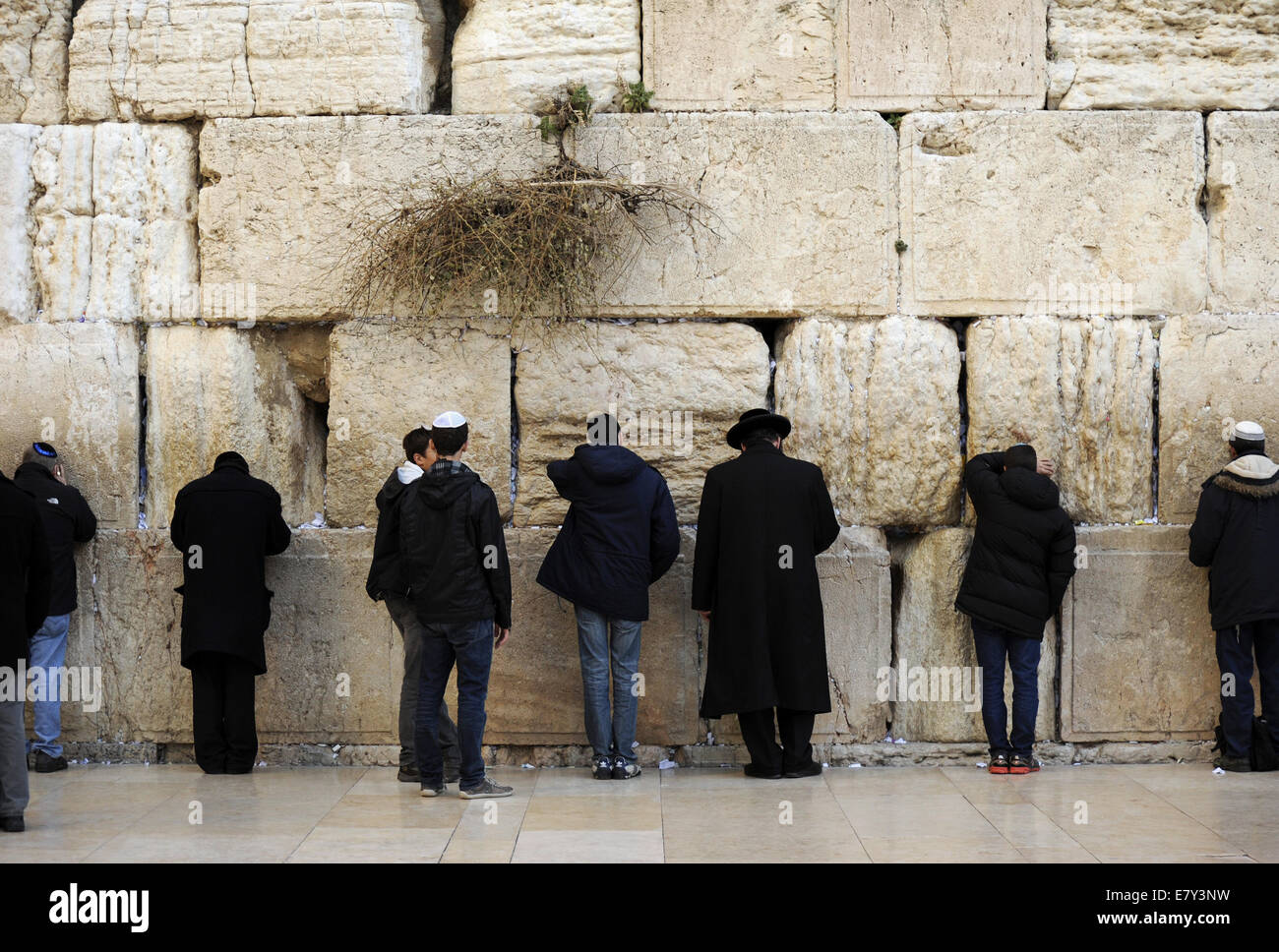 Judaism. Jews praying at the Western Wall. Jerusalem. Israel. - Stock Image