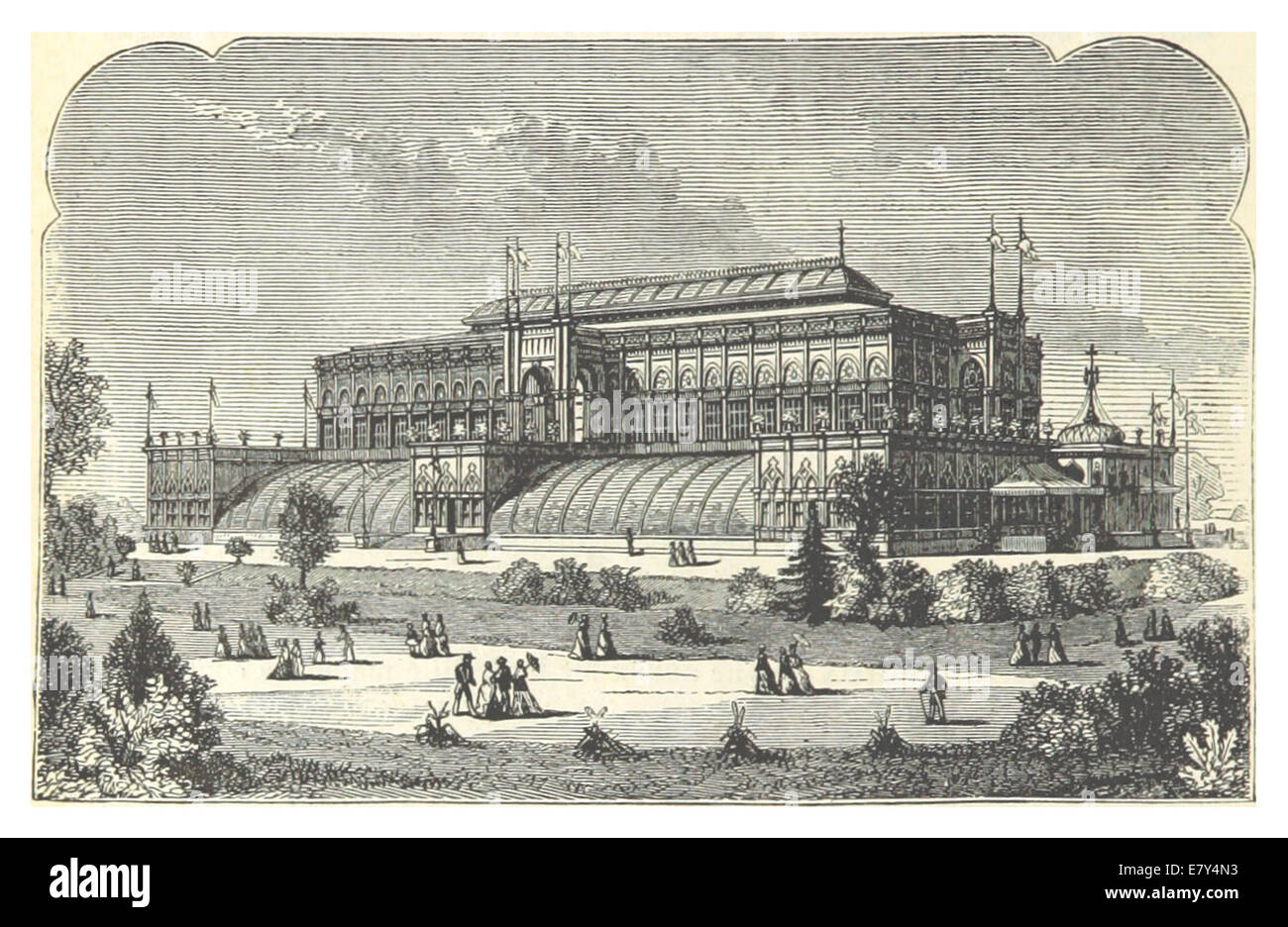 (1876Exhib) p672 Philadelphia 1876 - HORTICULTURAL BUILDING - Stock Image