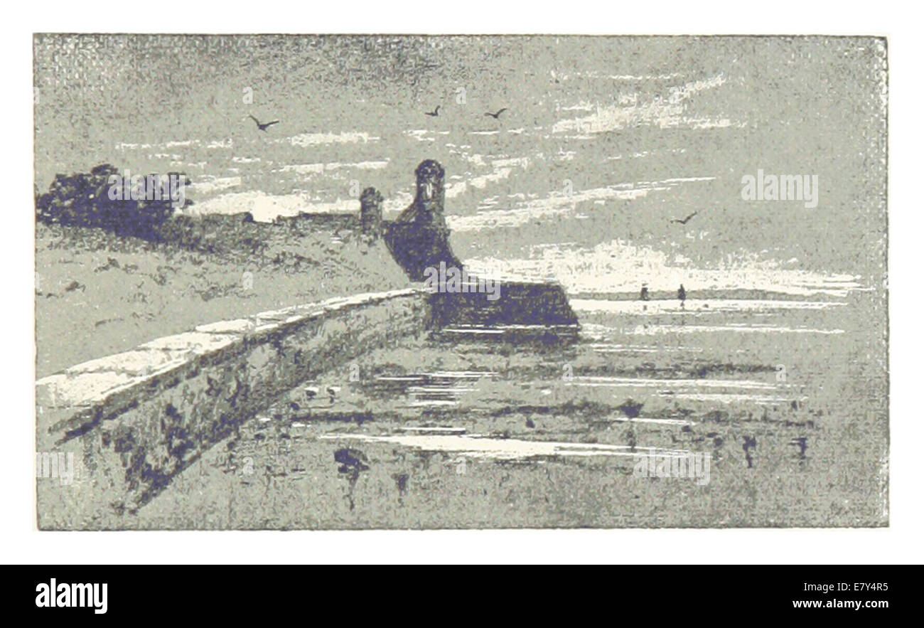 (Florida, 1889) p047 The Sea-wall at St. Augustine - Stock Image