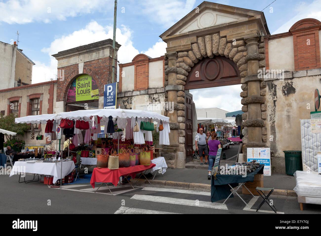 Market Saint Louis in Fontainebleau, France - Stock Image