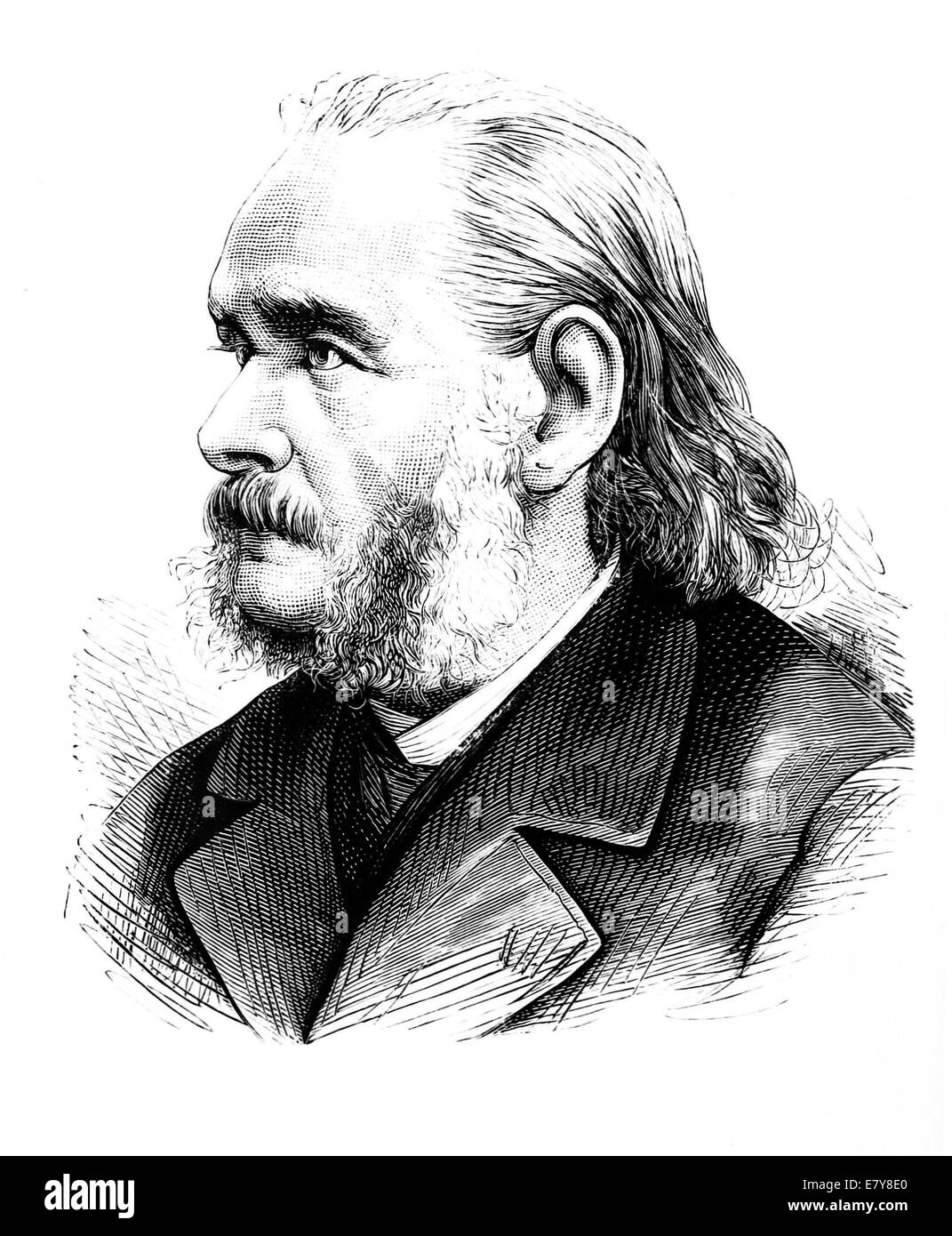 MATTHIAS SCHLEIDEN (1804-1881) German botanist and co-founder of cell theory - Stock Image