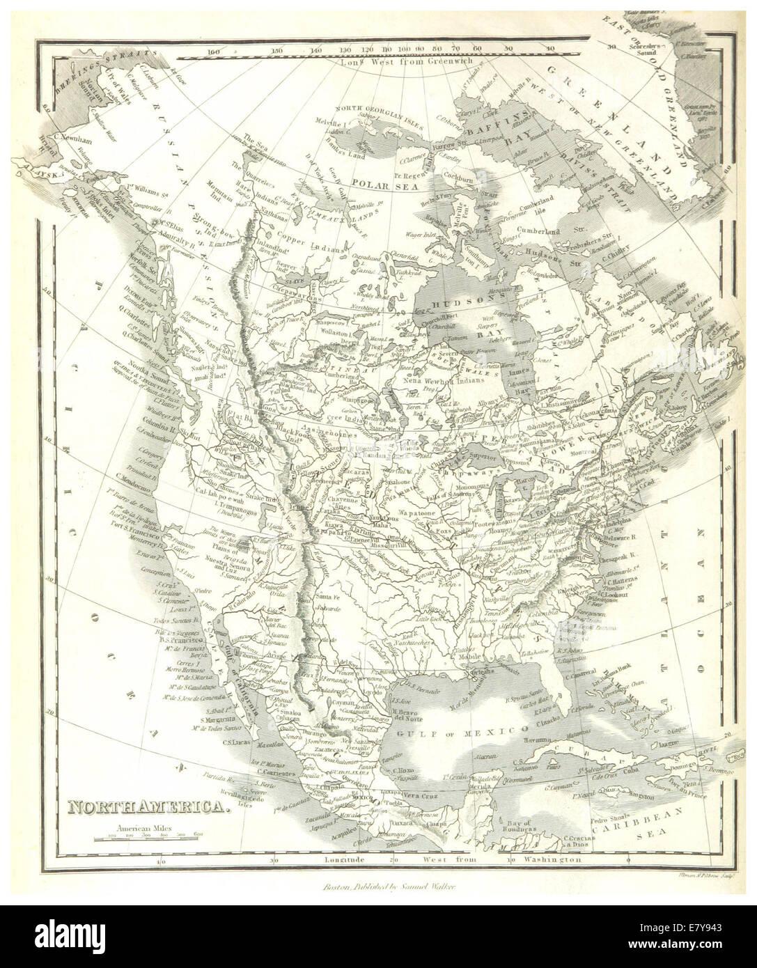 HINTON(1834) 1.026 NORTH AMERICA - Stock Image
