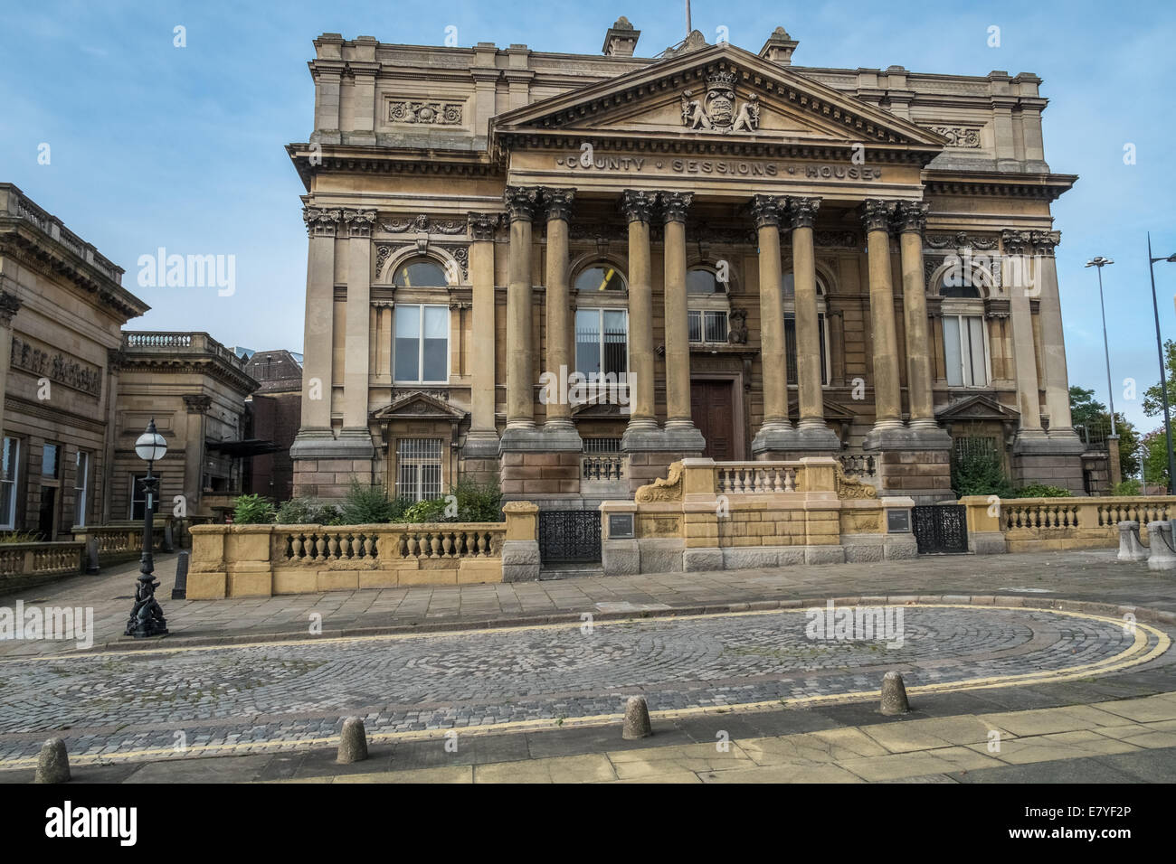 County Sessions House, William Brown Street, Liverpool, Merseyside, England, UK - Stock Image