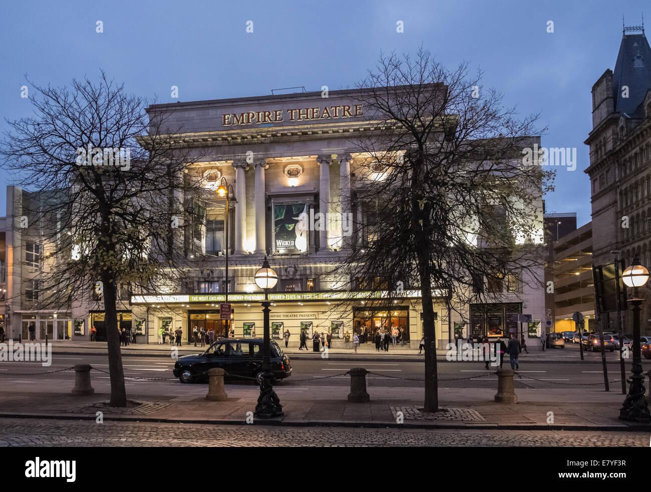 Empire Theatre, Lime Street, Liverpool, England, UK - Stock Image