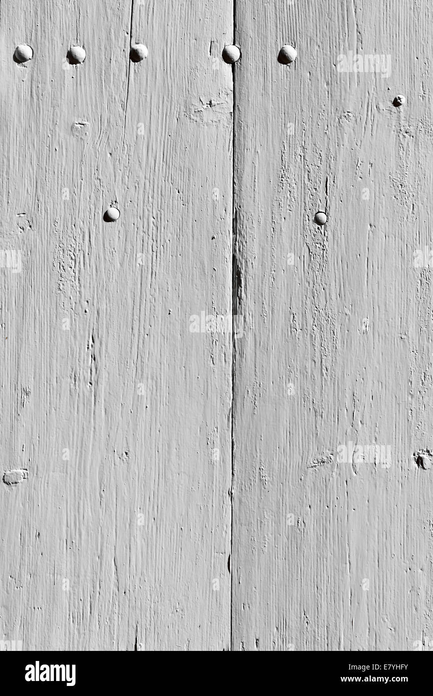 White wooden planks surface background. Vertical shot - Stock Image