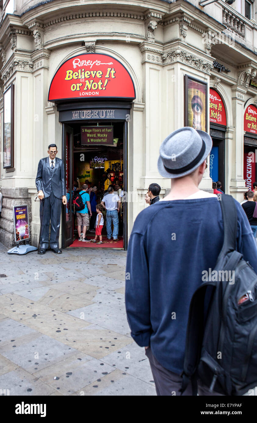 Museum of collection of bizarre events and items strange and unusual from across the globe. 1 Piccadilly Circus, - Stock Image