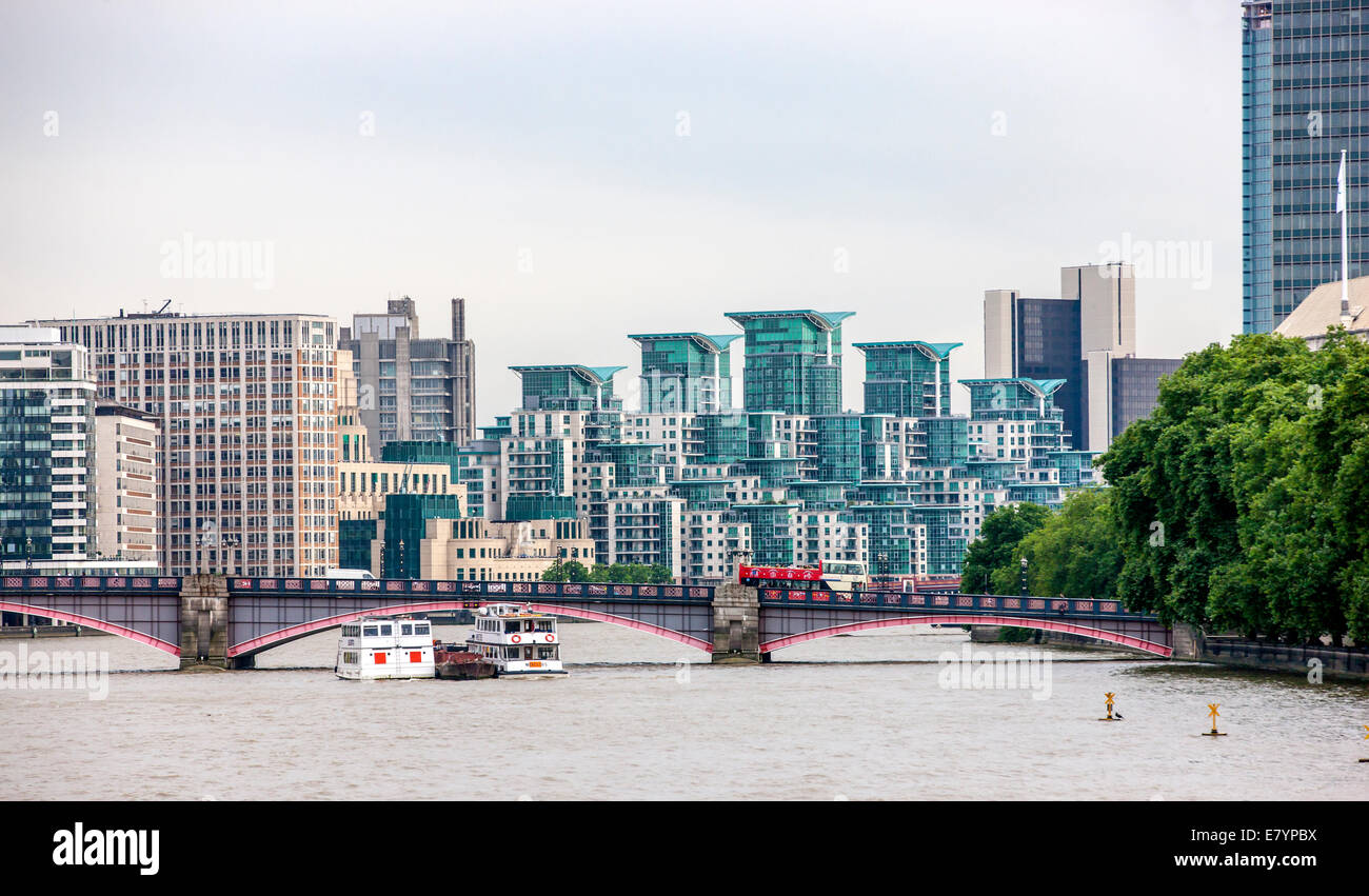 Vauxhaul is a Part of the London area  in the Borough of Lambeth. - Stock Image