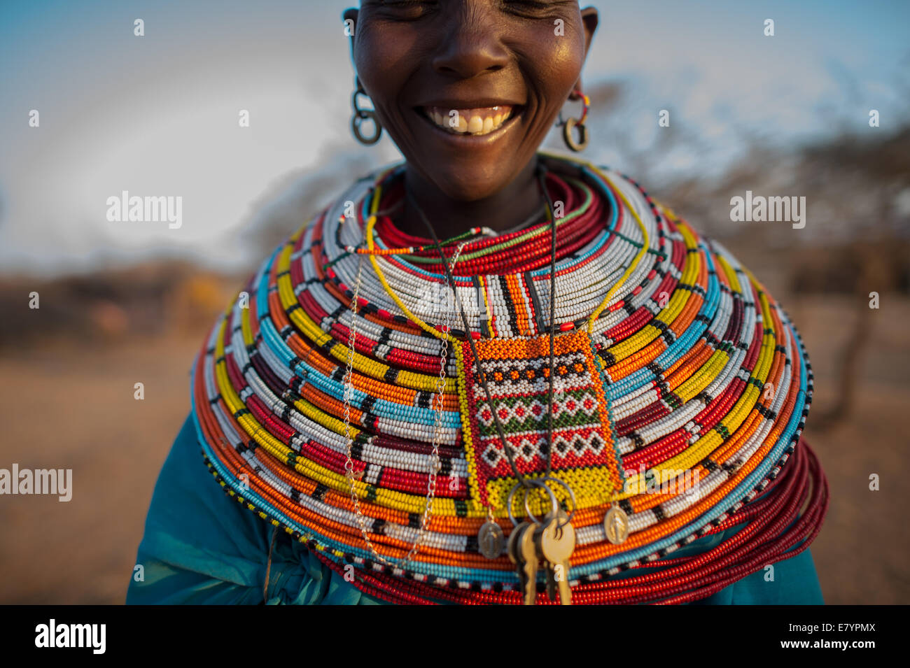 The Maa-speaking Samburu are pastoralists, whose livelihoods have traditionally been rooted in semi nomadic cattle, - Stock Image