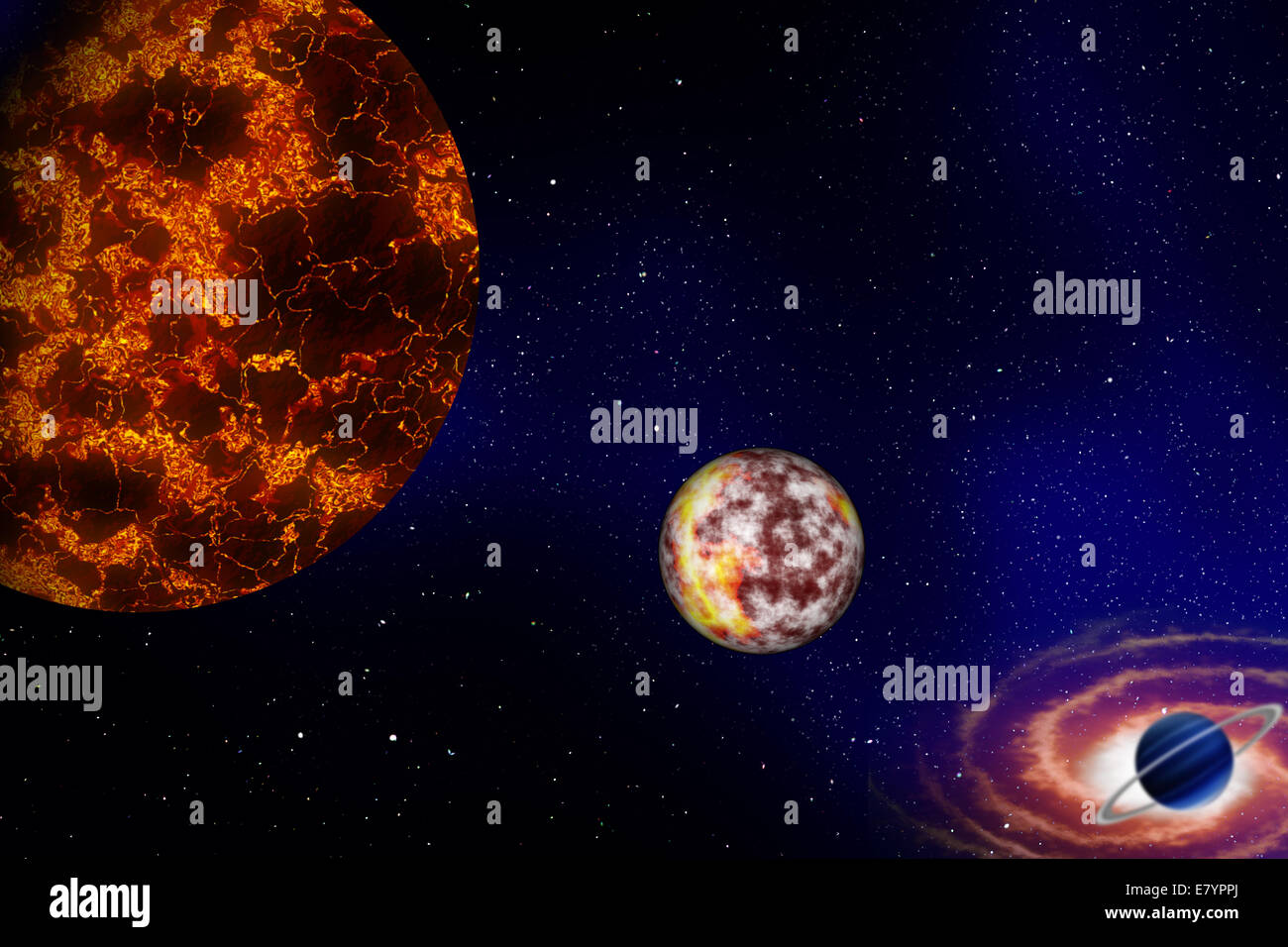 Space Planets Stars Galaxy Solar System Stock Photos