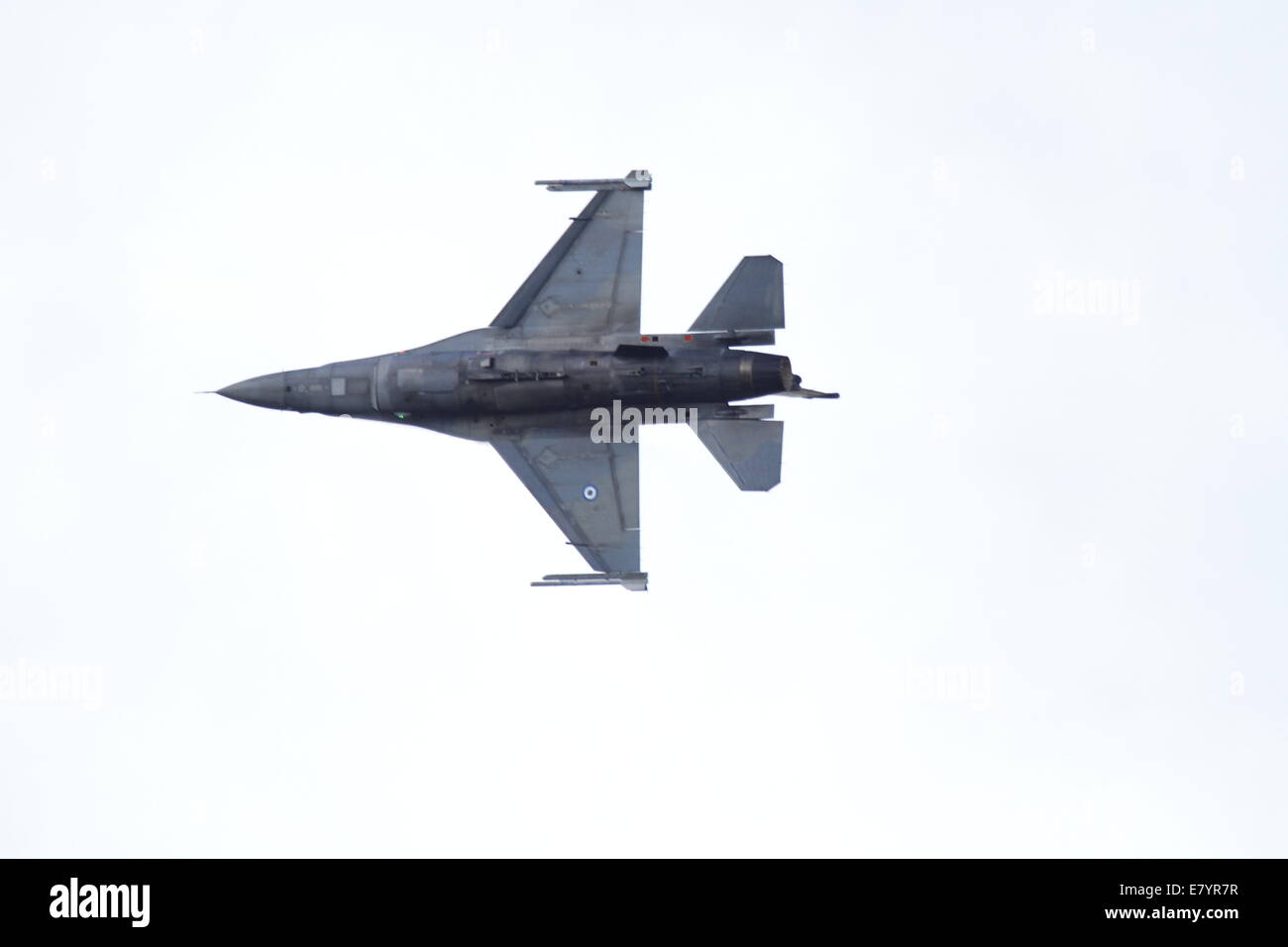 Acharnes, Greece. 26th September 2014. An Hellenic Air Force F-16 Block 52+ from the Demo Team Zeus performs at - Stock Image