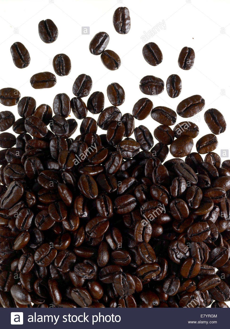roasted coffee beans, - Stock Image