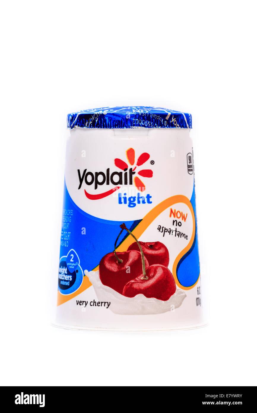Yoplait Light Cherry Yogurt - Stock Image