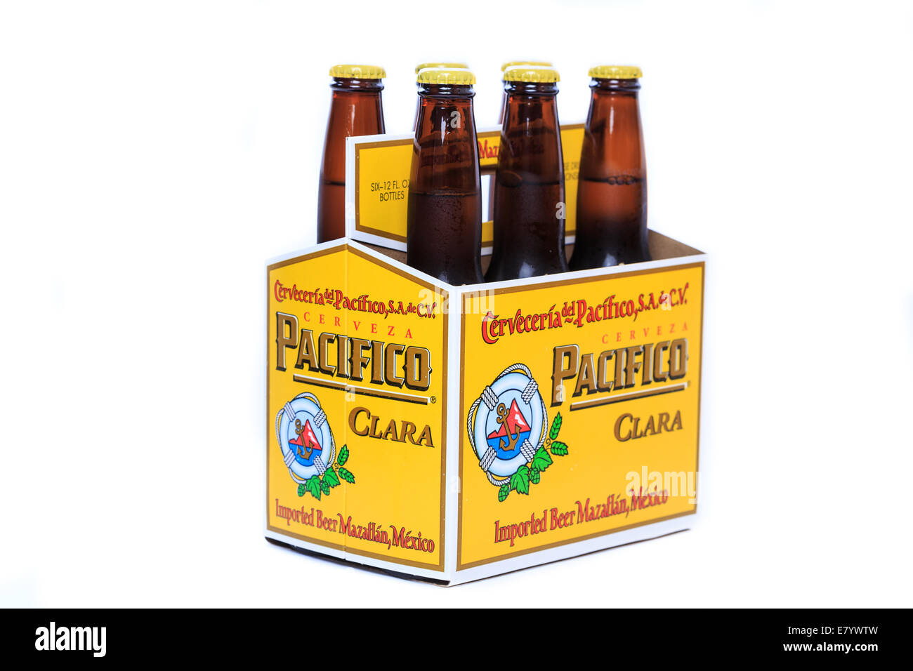 Cold and frosty Pacifico Clara Beer Stock Photo