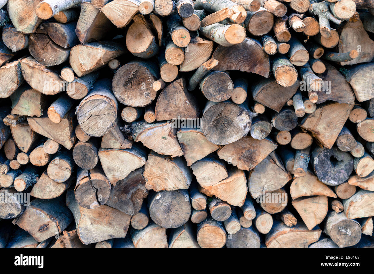 Pile of Wood - Stock Image